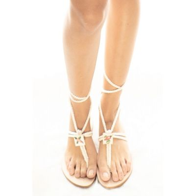"Taleyta Sandals ""Nomadic Collect."" white"