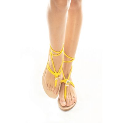 "Taleyta Sandals ""Nomadic Collect."" yellow"