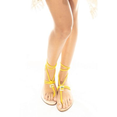 "Taleyta Sandals ""Nomadic Collect."" yellow art23-yellow Hamalfitè Sandals  clothing and accessories capri positano amalfi coas..."