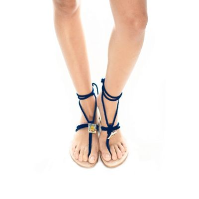 "Taleyta Sandals ""Nomadic Collect."" blue art23-blue Hamalfitè Sandals  clothing and accessories capri positano amalfi coast vi..."