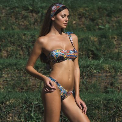 Venere Bikini hmlf44, normal or one-shoulder top art32_hmlf44 Hamalfitè 65,00 € Swimsuit amalfi coast, positano, capri ischia