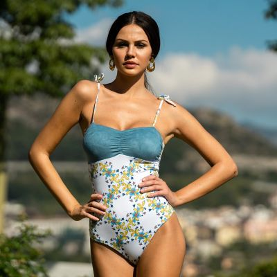 Calipso one-piece swimsuit with hand-painted majolica hmlf41 art34_hmlf41 Hamalfitè 80,00 € Swimsuit amalfi coast, positano, ...