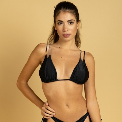 Triangle bikini top, brilliant charmeuse, Orange, Yellow, Black or Gold art76-t Hamalfitè 35,00 € Swimsuit amalfi coast, posi...