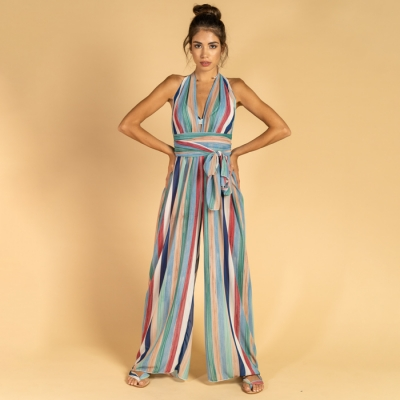 Long jumpsuit in georgette fabric art73 Hamalfitè Clothing  clothing and accessories capri positano amalfi coast vietri