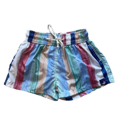 Baby swimsuit with striped...