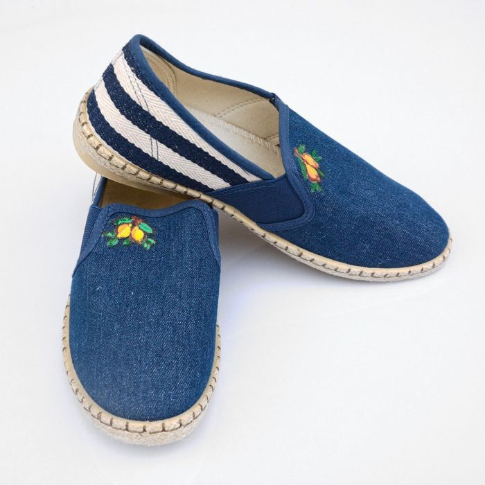Espadrillas Man Hand-painted Lemon